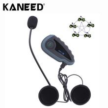 V8 1200 м 5 Всадники Мотоциклетный Шлем Bluetooth Домофон Гарнитура с Пультом дистанционного управления Поддержка NFC FM Автоматического Ответа