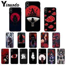 Funda de teléfono suave Yinuoda Anime Naruto itechi negro TPU para iPhone X XS MAX 6 6S 7 7 8 8 plus 5 5S XR