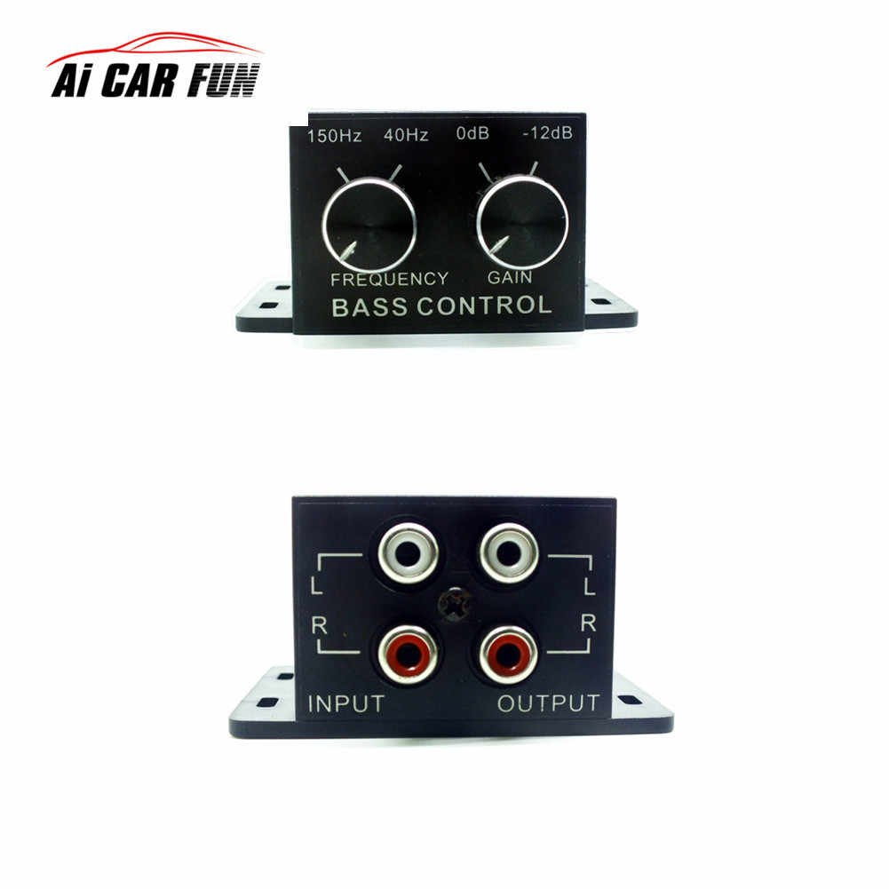 New Car Auto Power Amplifier Audio Regulator Bass Subwoofer Equalizer  Crossover Controller RCA Adjust Line Level Volume Home Use