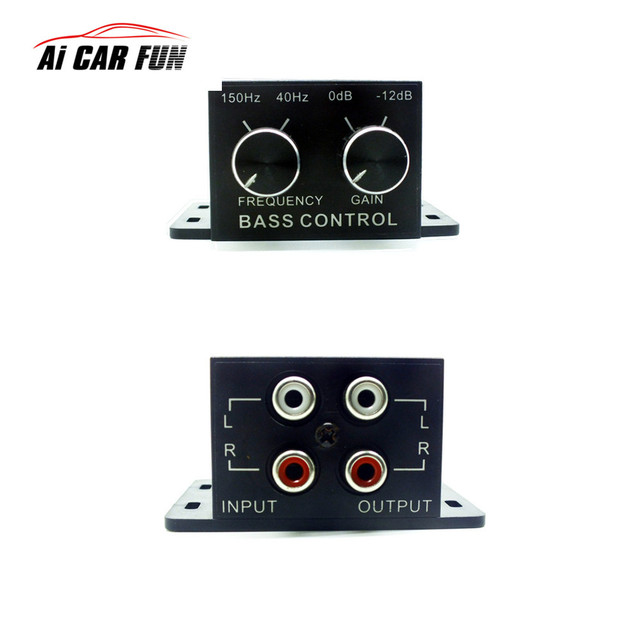 Best Offers New Car Auto Power Amplifier Audio Regulator Bass Subwoofer Equalizer Crossover Controller RCA Adjust Line Level Volume Home Use