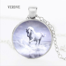 цены VERDVE 3 colors 2018 wholesale new unicorn art glass cabochon fancy jewelry style art gift girl