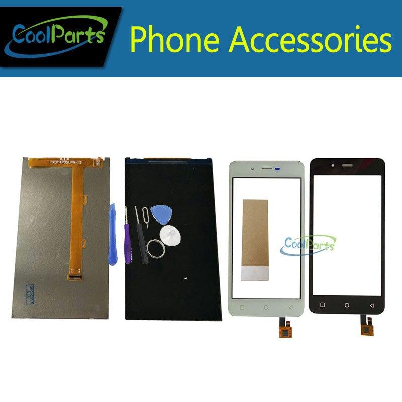 1 PC/Lot Haute Qualité Pour Micromax Toile Spark Q380 LCD Écran + Écran Tactile Digitizer Noir Blanc Couleur Avec outil et Bande