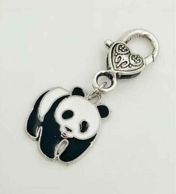 لطيف الباندا جراد البحر قفل المفاتيح ل مفاتيح سيارة مفتاح حلقة تذكارية الأزياء جديد المينا مجوهرات النساء
