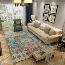Retro Decoration Carpets Parlor Area Rugs Washable Mat Rectangle Carpet Living Room Large Rug