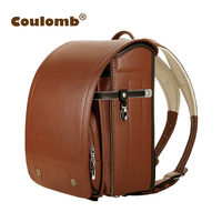 Coulomb Kid Luxury Backpack For Boy And Girl Waterproof School Bag Night Safe Japanese PU Hasp Solid Orthopedic Backpacks 2018
