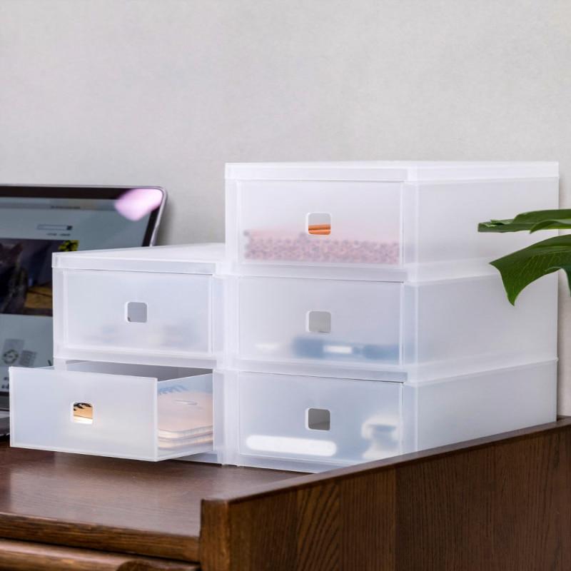 Multi-couche tiroir organisateur maquillage organisateur bureau bureau papeterie boîte de rangement boîte transparente bibelot boîte en plastique