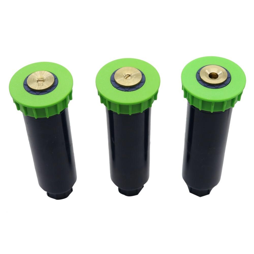 Lawn Irrigation Sprinklers Popup 360-Degree 10pcs Garden Inner-Thread Gear-Drive 1/2inch