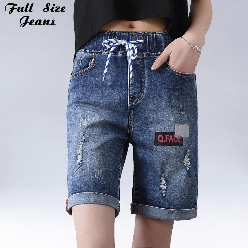 Popular Women Ripped Jeans Capri Shorts-Buy Cheap Women Ripped ...