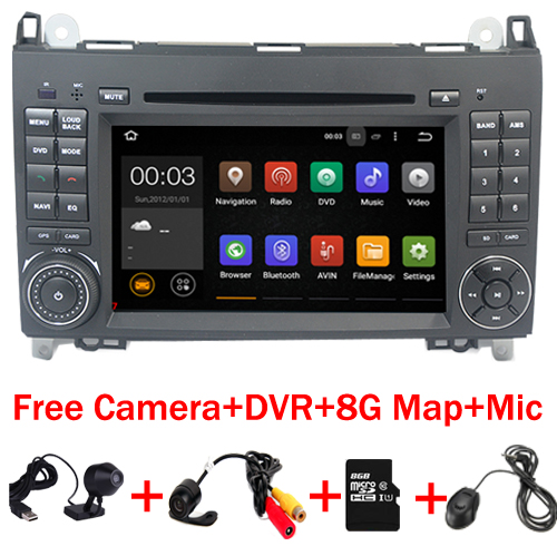 Quad Core Auto PC Android 7.1 fü<font><b>r</b></font> Mercedes/Benz Vito Viano Sprinter <font><b>Crafter</b></font> Bluetooth Radio WIFI 3g DVR SWcontrol USB SD Kostenlose Karte image