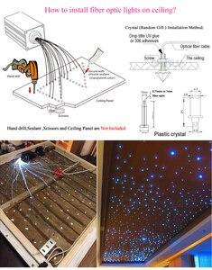 Image 5 - Bluetooth światłowodowy gwiazdka lekki 16W RGBW aplikacja na smartfona sterowanie radiowe światłowód strzelanie efekt meteorów oświetlenie do pokoju dziecięcego