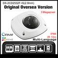Hikvision ds-2cd2532f-is (2.8mm) versão original em inglês h265 câmera ip onvif poe p2p cctv camera câmera de segurança ir hik exterior