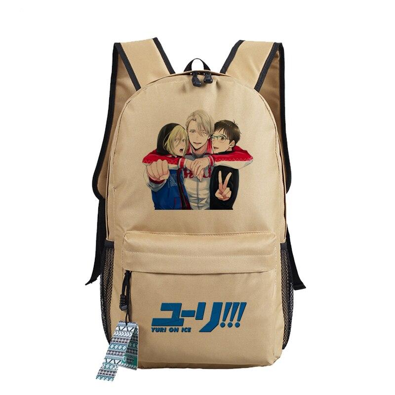Image 4 - YURI on ICE Katsuki Yuri Women Backpack Canvas School Bags for  Teenage Harajuku Travel Bagpack Anime Laptop Back Pack Bookbagbackpack  schoolbackpack school bagschool bag laptop
