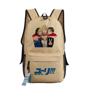 Image 4 - YURI on ICE Katsuki Yuri Women Backpack Canvas School Bags for Teenage Harajuku Travel Bagpack Anime Laptop Back Pack Bookbag