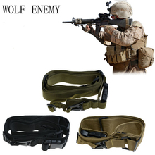 Taktikal Tiga Titik Adjustable Gun Sling Tali Sistem 3 Point Gun Rope untuk Memburu Airsoft