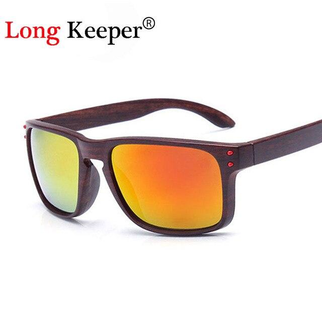 7e7413c0a0370 حارس طويل حار الأزياء الخشب نظارات الرجال النظارات مربع النظارات العاكسة  gafas دي سول gafas دي