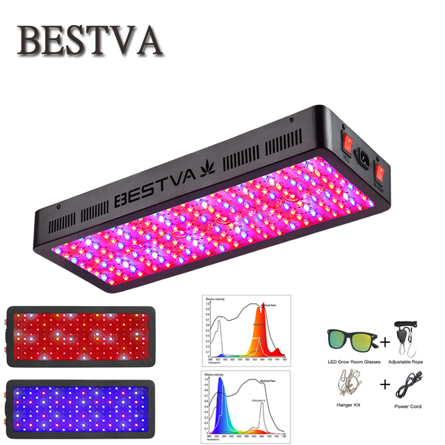 BestVA LED grow light 600W/1000W/1200W/1500W/2000W/3000W Full Spectrum upgrade dual switch veg bloom for indoor plant greenhouse