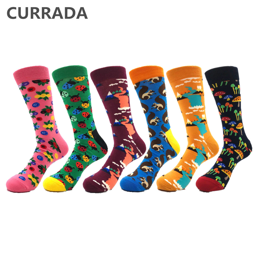 Underwear & Sleepwears Brand Quality Mens Happy Socks Combed Cotton Panda Penguin Animal Cartoon 17 Colors Funny Socks Casual Calcetines Largos Hombre