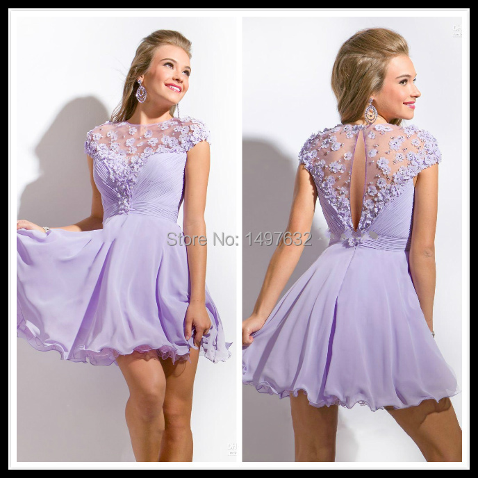 Popular Lavender Homecoming Dresses-Buy Cheap Lavender Homecoming ...