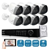 SUNCHAN Full 8CH 1080P CCTV System 1080P DVR 2 0mp 3000TVL Outdoor Video Surveillance Security Camera