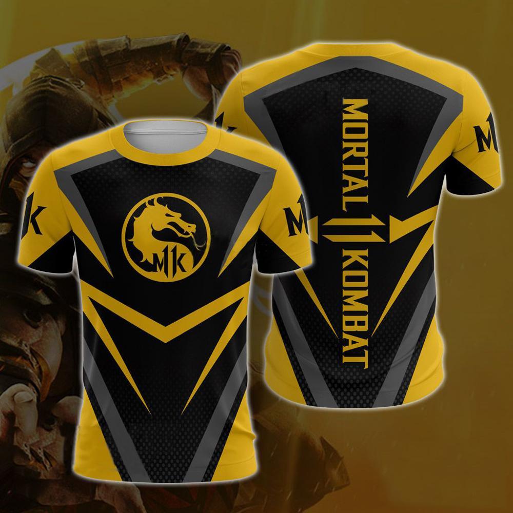 2019 verão moda casual mortal kombat 11 t-shirts 3d impressão jogo de luta mortal kombat 11 camiseta masculino/feminino topos