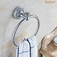Beelee BL8411C Wholesale And Retail High End Retro Style Wall Mount Towel Ring Solid Brass Towel