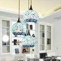 Mittelmeer Böhmischen stil glas lampenschirm anhänger licht Hänge Leuchte korridor für schlafzimmer lampe-in Pendelleuchten aus Licht & Beleuchtung bei