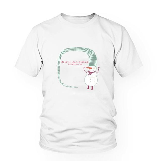 68cee8c801e5 Plus size women autumn top tees casual cute t-shirt white funny cartoon  printed tshirt Christmas snowman print t shirt T-R10008