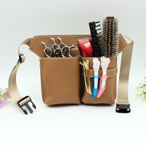 Image 4 - High quality pu leather Hair Scissor Bag Big Storage Space Hair Comb Shear Pouch Holder Case Belt Barber Hairdressing Tool Bag