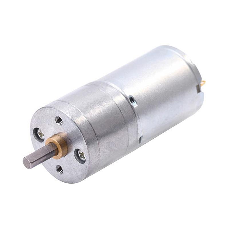JGA25-370 Geared Motor DC Motor 6V 12V Electric Gear Motor High Torque 5/10/15/30/60/100/150/200/300/400/500/1000/1200 Rpm