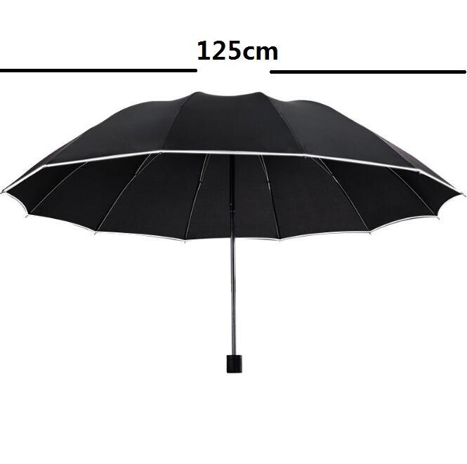 125 センチメートル大傘のため 3 人トップ品質の男性の女性サニー雨防風男性 3 折りたたみビッグ傘屋外パラソル paragu  グループ上の ホーム&ガーデン からの 傘 の中 2