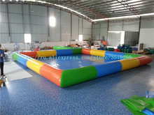 купить For sale 8/8 m, square color pool, PVC inflatable pool with thickened material, suitable for business дешево