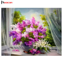 "DIY Diamond Painting ""Flowers"" Diamond Embroidery, 5D Full Square Rhinestones Cross Stitch Diamonds Mosaic, Hobby Home Decoration"