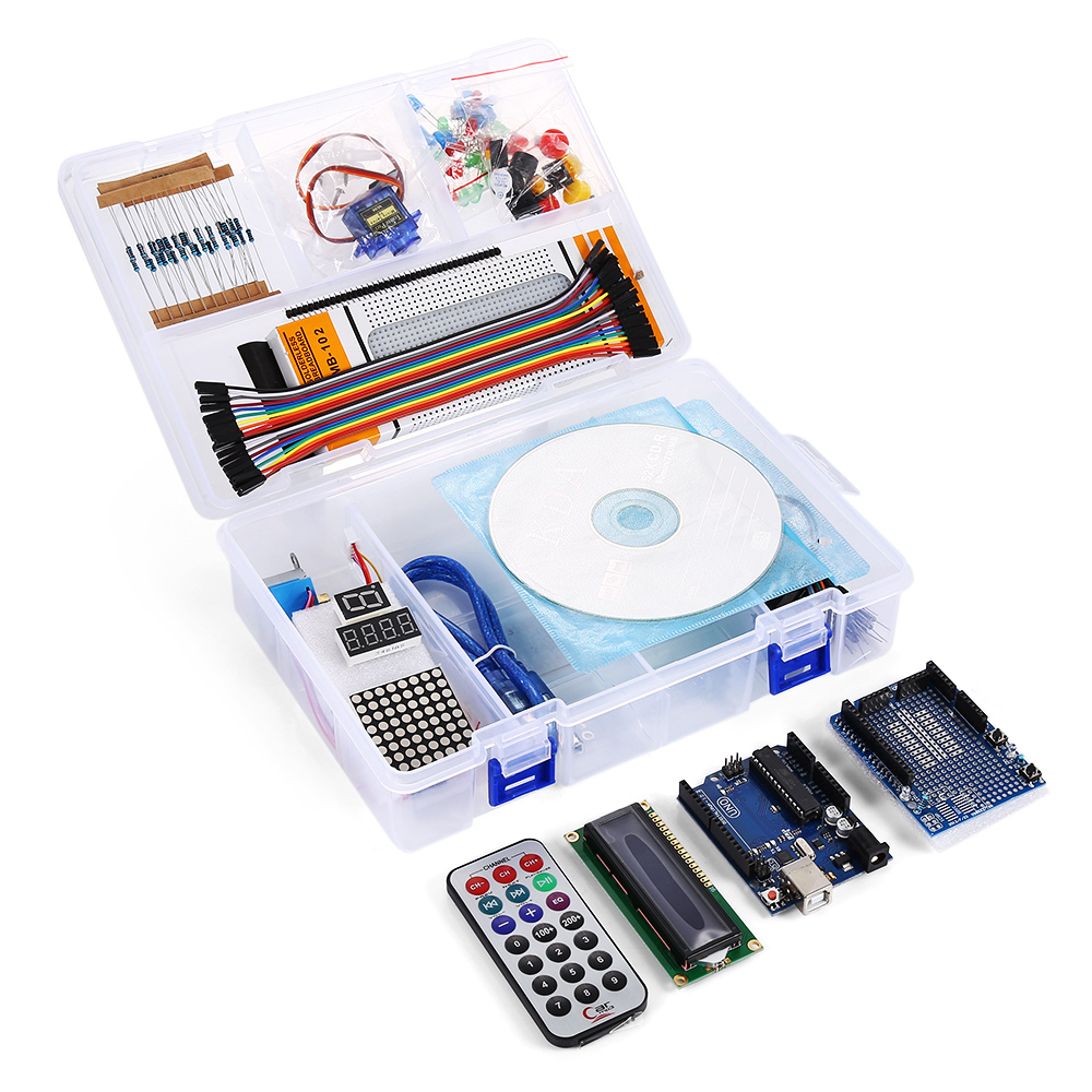 Starter Kit For Arduino One Set UNO R3 Project Starter KIT Upgraded Version Beginner Learning Suite With Retail Box geekcreit™ uno basic starter learning kit upgrade version for arduino