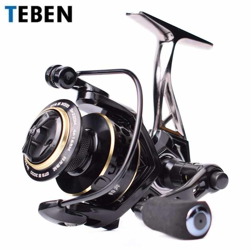 TEBEN GTS III Saltwater Metal Jigging Fishing Reel Left Right Hand 9BB Max Drag 12-20Kg Lure Carp Surf Fishing Spinning Reels