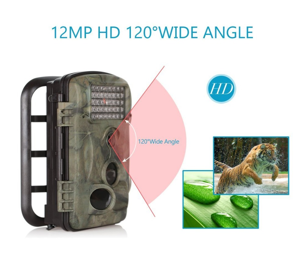 "Infrared Night Vision Trail Cam With 2.4"" LCD Screen & 120 DEGREE Wide Angle 1 Year Manufacturer Warranty"