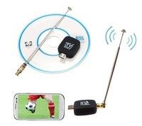 Dvb-t tv receptor tv tv relógio digital satelite receptor adaptador para micro usb android telefone tablet