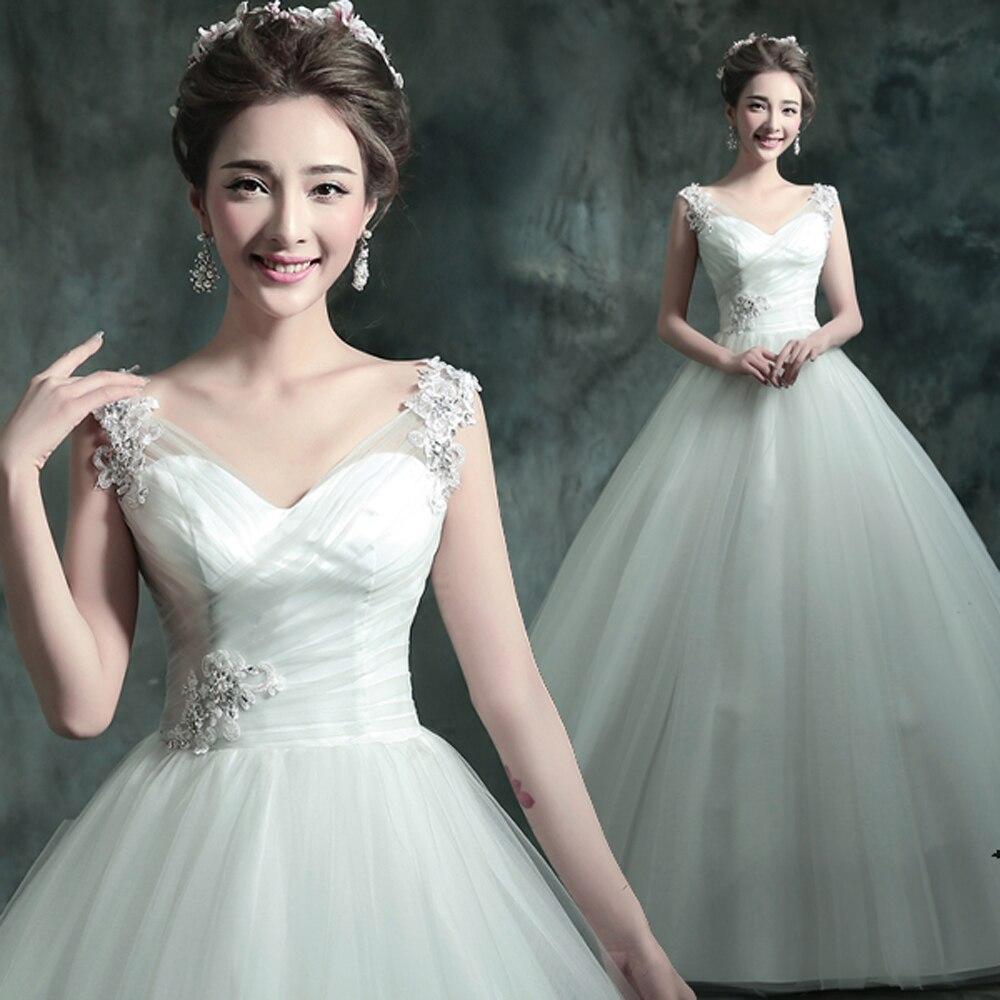 Romantische Prinzessin v ausschnitt Hochzeitskleid 2016 spitze ...
