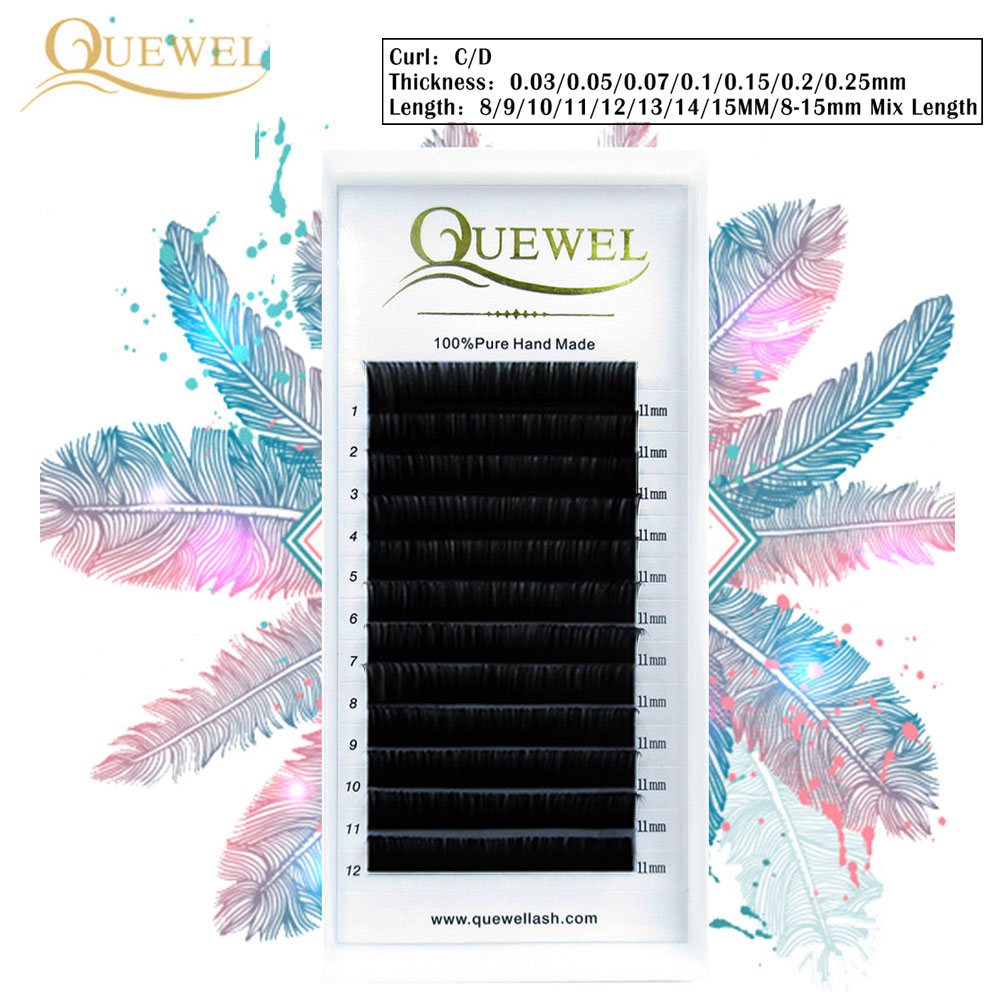 dbe81a275b3 False Eyelash Extension 12 Lines/Tray Silk Cilios Soft Individual Eye lash  Extensions C/