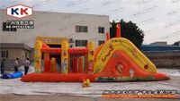 EN14960 Water Proof / Fire Retardant Adult Inflatable Obstacle Course