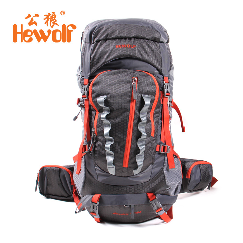 Hewolf Outdoor Professional Waterproof Bags Rucksack Internal Frame Climbing Camping Hiking Backpack Mountaineering Bag 45+10L high quality 55l 10l internal frame climbing bag waterproof backpack suit for outdoor sports travel camping hinking bags