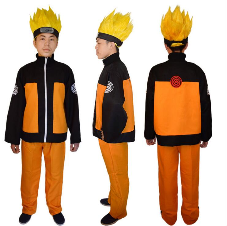 Naruto Cosplay Costumes Anime Naruto Outfit For Man Show Suits Japanese Cartoon Costumes Naruto Coat Pants Wig Adults