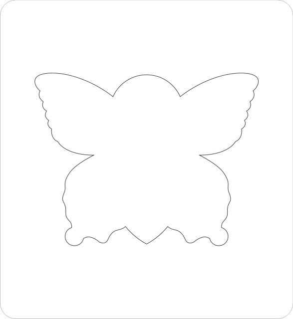 Butterfly Scrapbooking die cutters/fabric/felt cutters 140*152mm 15.8mm thick  L-A0002