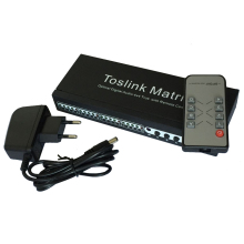 Фотография New SPDIF TOSLINK Digital Optical Audio True Matrix 4x4 Switch Switcher Splitter 4 In 4 Out Video Converter Remote Control