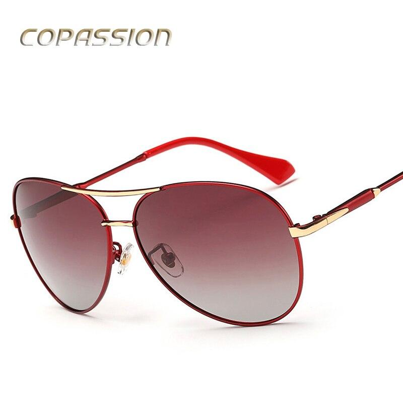 Alliage cadre lunettes de Soleil Polarisées Femmes hommes 2017 Marque De Luxe Pilote lunettes de Soleil Ombre Femme Lunettes De Soleil oculos de sol Accessoires