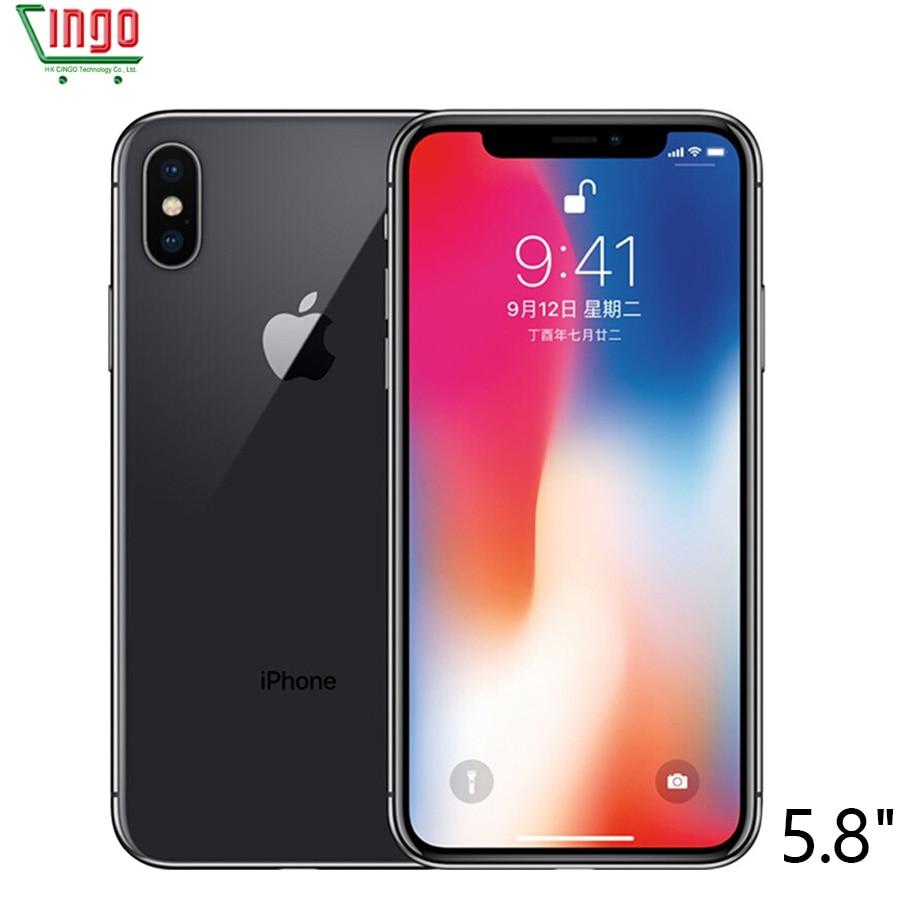 Original Da Apple iphone X 3 GB RAM 64 GB/256 GB ROM 5.8 polegada Rosto ID 12MP 2716 mAh Hexa Core iOS 4G LTE Desbloqueio Inteligente Móvel telefone