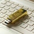 Barra de Oro de lujo Pen Drive 512 GB Usb Flash Drive de 64 GB 128 GB 16 GB 32 GB Pendrive Memory Stick 3.0 de la Capacidad Real De Disco En Clave regalo