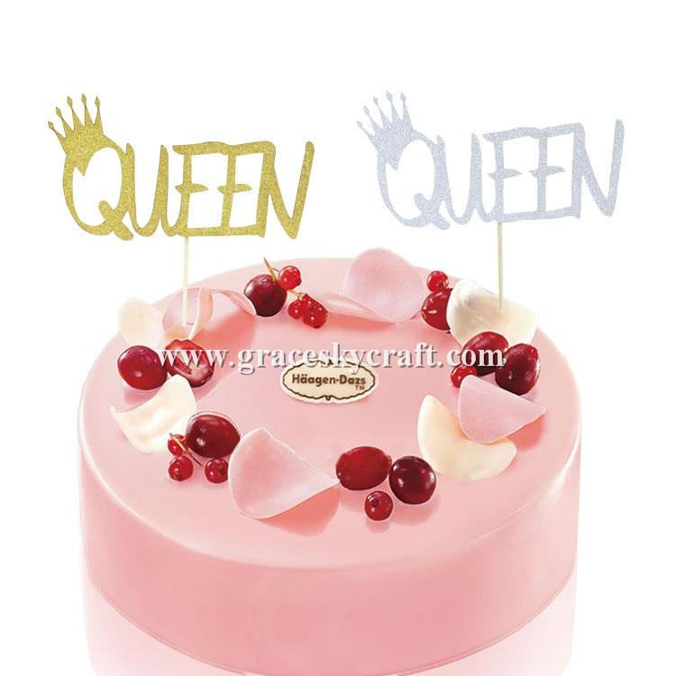 Fabulous 12Pcs Free Shipping Glitter Paper Crown Queen Letter Design Funny Birthday Cards Online Aboleapandamsfinfo
