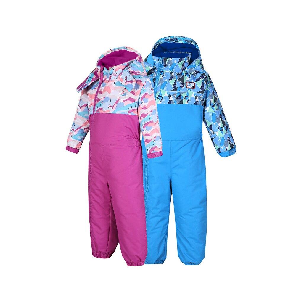 Enfants Un des morceaux de combinaison de Ski Coupe-Vent Imperméable Thermique Épaissie Salopette pour Enfants D'hiver Ice Sports Ski Snowboard
