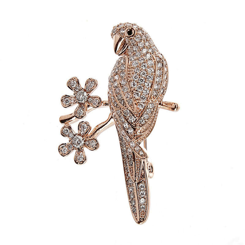 Micro Pave Ladies Elegant Brooch Gold Color Metal Austrian Crystal Animal Bird Brooch Zirconia Pins and Brooches for Women (1)