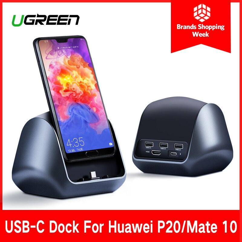 где купить Ugreen USB C HUB Type C to 3.0 HUB HDMI Adapter for Huawei P20/P20 Pro Mate 10/Mate 10 Pro Mate RS USB-C Dock Station Type C HUB дешево